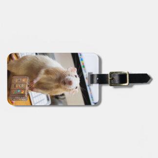 Etiqueta Para Maletas ¡Ratón de Marty listo para el viaje!  (etiqueta de