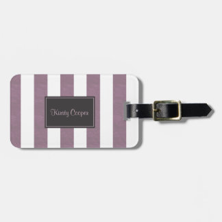 Etiqueta Para Maletas Rayas púrpuras pálidas