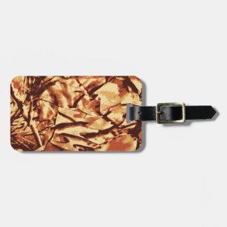 Etiqueta Para Maletas Regalos del camuflaje de Brown Camo para los