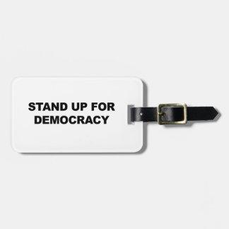 Etiqueta Para Maletas Represente para arriba democracia