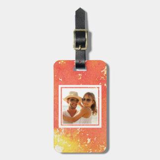 Etiqueta Para Maletas Resuma la acuarela anaranjada pintada el | añaden