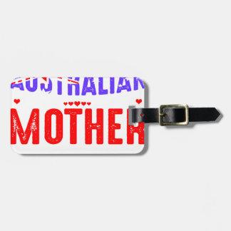 Etiqueta Para Maletas Retroceda el uso no asustado australiano loco de