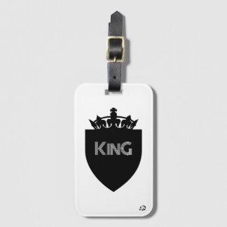 Etiqueta Para Maletas Rey coronado Luggage Tag con la ranura para