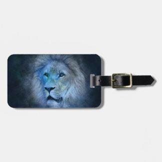 Etiqueta Para Maletas Rey Luggage Tag del león con la correa de cuero