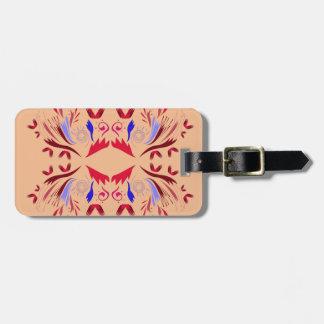 Etiqueta Para Maletas Rojo beige de Ethno de los elementos del diseño