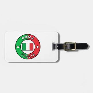 Etiqueta Para Maletas Roma Italia
