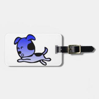 Etiqueta Para Maletas Ropa azul divertida y más del perro