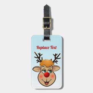 Etiqueta Para Maletas Rudolph - el reno más famoso de todos
