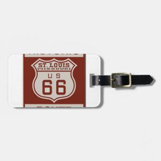 Etiqueta Para Maletas Ruta 66 de St. Louis