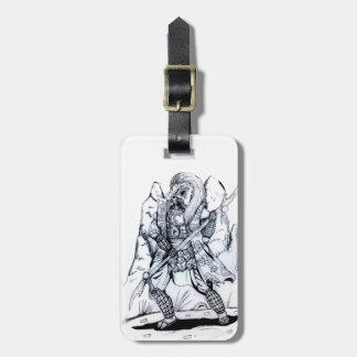 Etiqueta Para Maletas Samurai elemental del aire