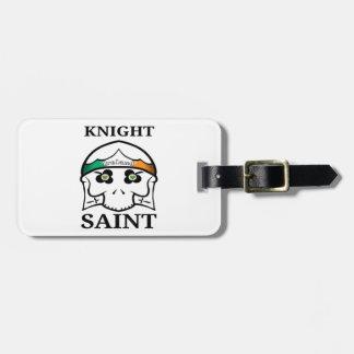 Etiqueta Para Maletas Santo del caballero del día de Irlanda St Patrick