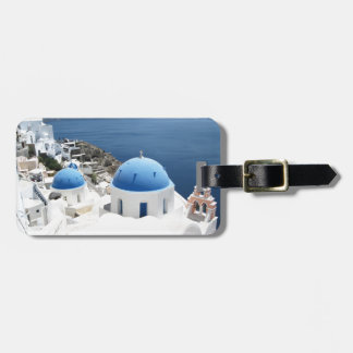 Etiqueta Para Maletas Santorini Grecia