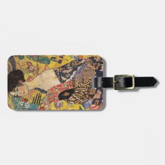 Etiqueta Para Maletas Señora de Klimt con bella arte de la fan