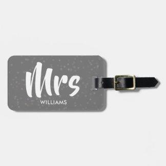 Etiqueta Para Maletas Señora de plata personalizada del confeti de