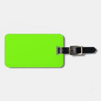 Etiqueta Para Maletas Serie retra del viaje de la verde lima de Fluoro
