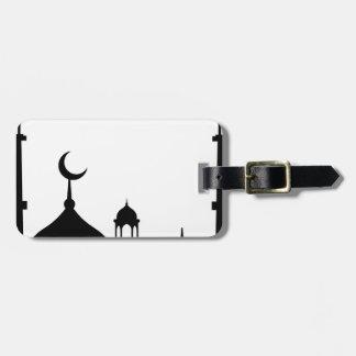 Etiqueta Para Maletas Silueta de la mezquita