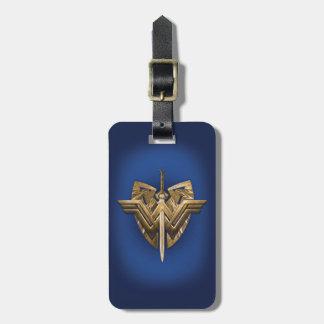 Etiqueta Para Maletas Símbolo de la Mujer Maravilla con la espada de la
