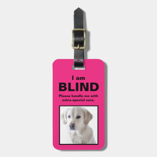 Etiqueta Para Maletas [Sobre mi perro] perro sordo del gato de las