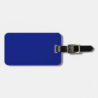 Etiqueta Para Maletas Solamente sólido elegante azul marino OSCB33