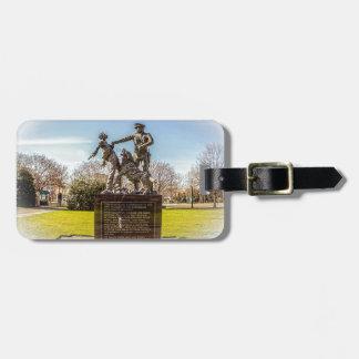Etiqueta Para Maletas Soldados de infantería en el parque de Kelly