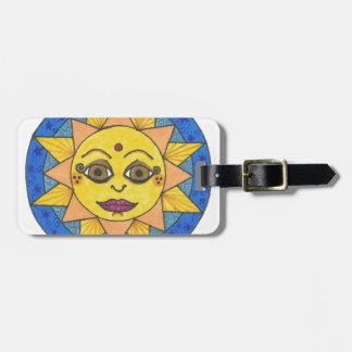 Etiqueta Para Maletas Sun feliz