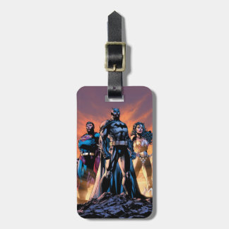 Etiqueta Para Maletas Superhombre, Batman, y trinidad de la Mujer