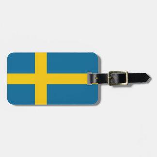 Etiqueta Para Maletas Svenska flaggan