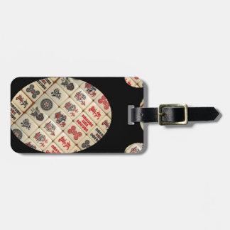 Etiqueta Para Maletas Tejas de Mahjong