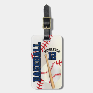 Etiqueta Para Maletas Texto del béisbol el | DIY del deporte - azul