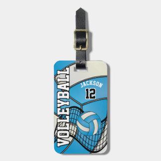 Etiqueta Para Maletas Texto del voleibol el | DIY del deporte - azul