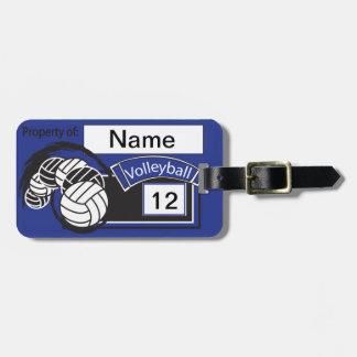 Etiqueta Para Maletas Texto el | del voleibol el | DIY del deporte azul