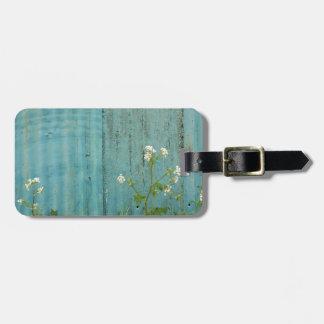 Etiqueta Para Maletas textura azul de la cerca de la pintura de la