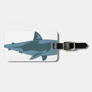 Etiqueta Para Maletas Tiburón