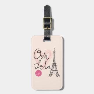 Etiqueta Para Maletas Torre Eiffel dibujada mano