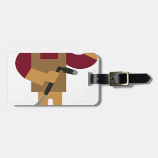 Etiqueta Para Maletas Trabajador metalizado
