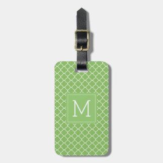 Etiqueta Para Maletas Trébol verde del monograma el |