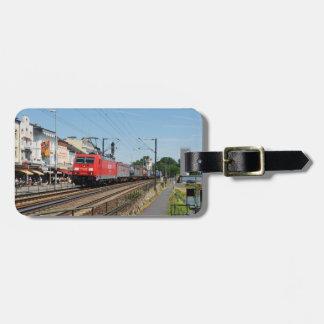 Etiqueta Para Maletas Tren de carga en hogar de grosero a la rin