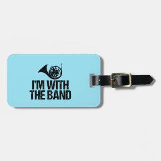 Etiqueta Para Maletas Trompa divertida estoy con la banda