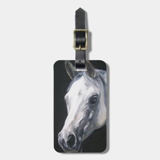 Etiqueta Para Maletas Un caballo blanco