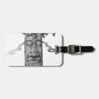 Etiqueta Para Maletas Un &W poderoso de la cubierta del árbol