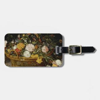 Etiqueta Para Maletas Una cesta de flores - Jan Brueghel el más joven