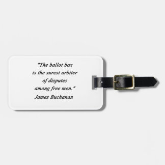 Etiqueta Para Maletas Urna - James Buchanan