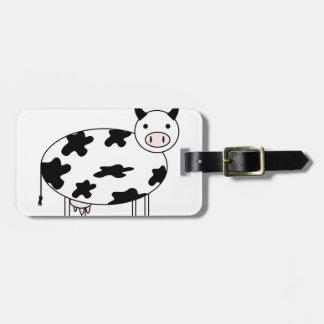 Etiqueta Para Maletas Vaca linda