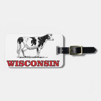 Etiqueta Para Maletas vaca roja de Wisconsin