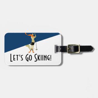 Let's Go Skiing! Vintage Design Skiers