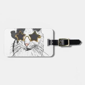 Etiqueta Para Maletas Vidrios de la estrella del gato que llevan