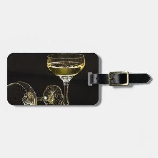 Etiqueta Para Maletas vidrios del champán