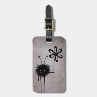 Etiqueta Para Maletas Vintage malvado del insecto de la flor