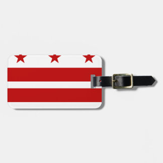 Etiqueta Para Maletas Washington, bandera de la C.C.
