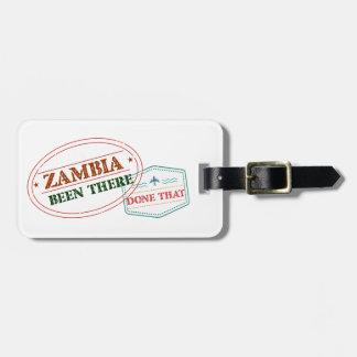 Etiqueta Para Maletas Zambia allí hecho eso